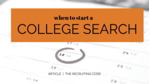 when to start a college search